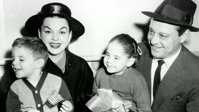 Lorna Luft with her mother Judy Garland