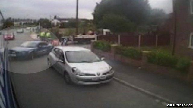 Car collides with bus