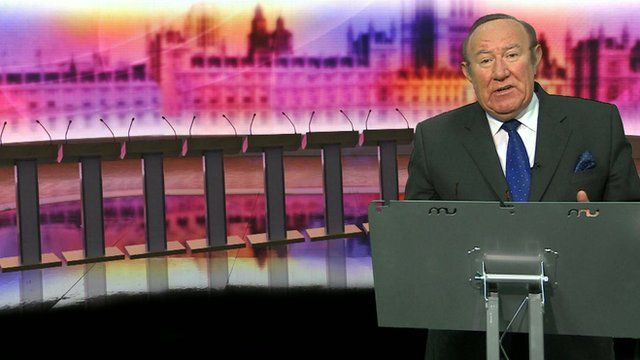 Andrew Neil at the lectern