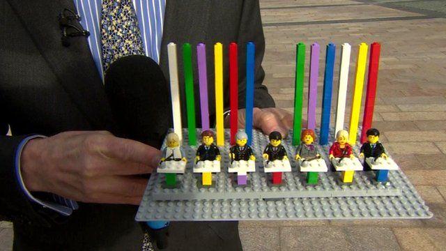 Political leaders in Legoland format