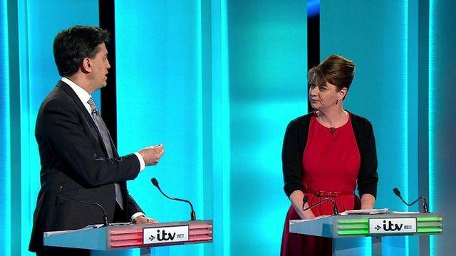 Ed Miliband and Leanne Wood