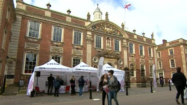 BBC Hereford and Worcester's election tent