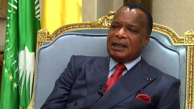 Denis Sassou N'Guesso, president of Congo-Brazzaville