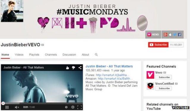 YouTube hack 'threatened' Justin Bieber videos
