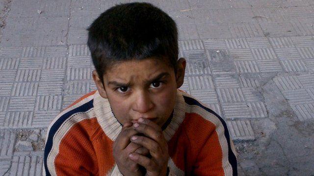 Palestinian refugee in Yarmouk