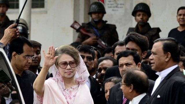 Former Bangladeshi prime minister and Bangladesh Nationalist Party (BNP) leader Khaleda Zia