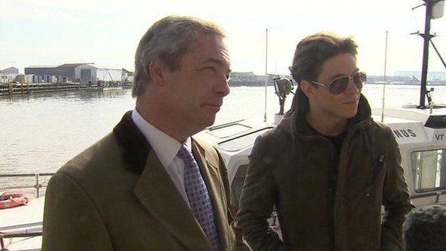 Nigel Farage and Joey Essex