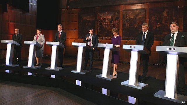 Scotland election TV debate in Aberdeen - 8 April 2015