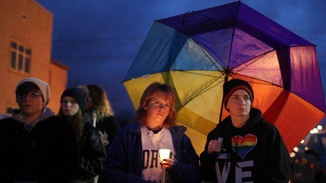 Vigils were held after Ms Alcorn's suicide in December