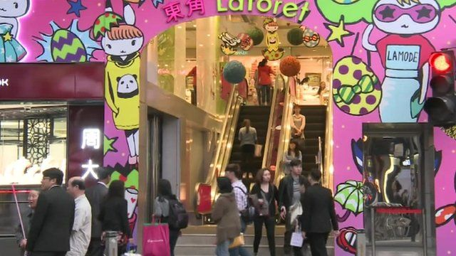 Honk Kong shopping mall