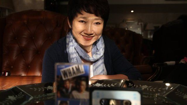 Picture of Cheng Fangyuan, who sang a Chinese version of Wham's hit Wake Me Up Before You Go-Go