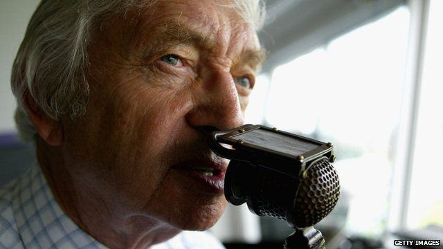 File photo of cricket commentator Richie Benaud