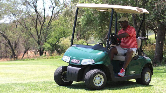 Soweto-born Zack Rasego is one of South Africa's top professional caddies