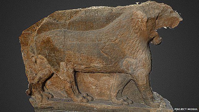 A scan of an artifact
