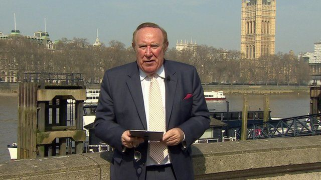 Andrew Neil with Westminster backdrop