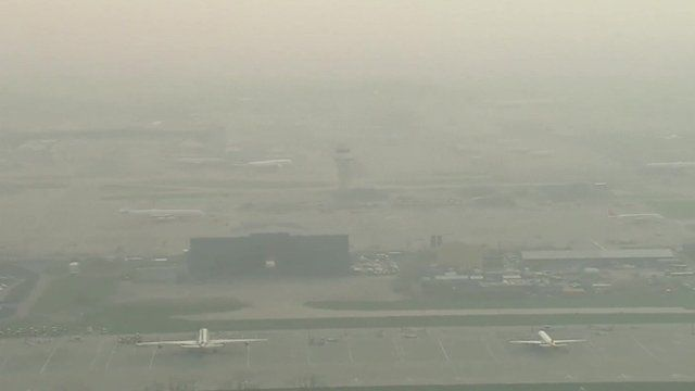 Smog at Gatwick Airport