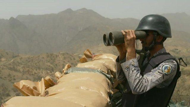 Saudi guard on border with Yemen