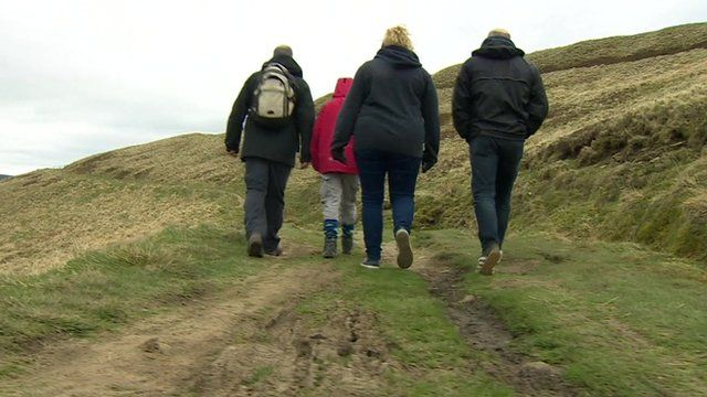Walkers in the Peak District