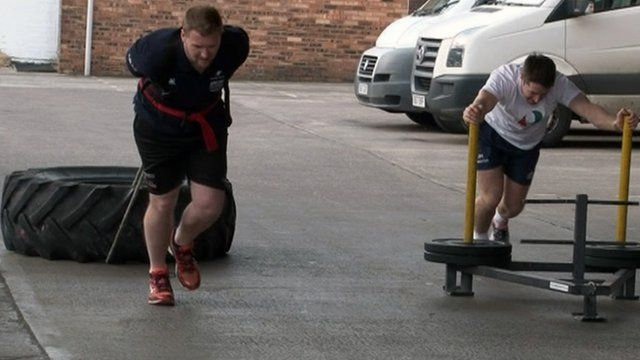 Rugby players training for Arctic expedition