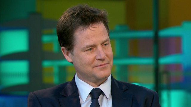 Liberal Democrat leader and deputy PM Nick Clegg