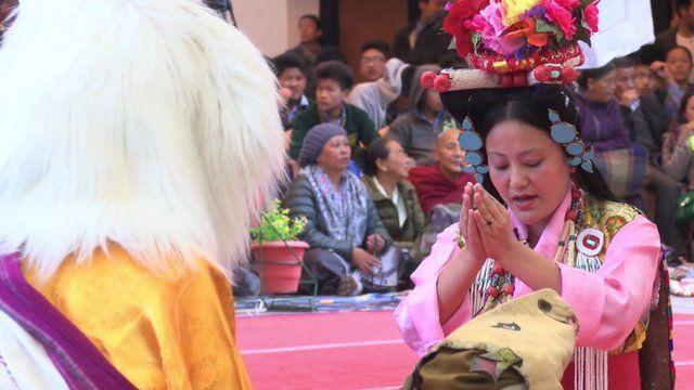 Tibetan opera festival in northern India