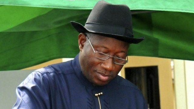 Outgoing Nigerian President Goodluck Jonathan