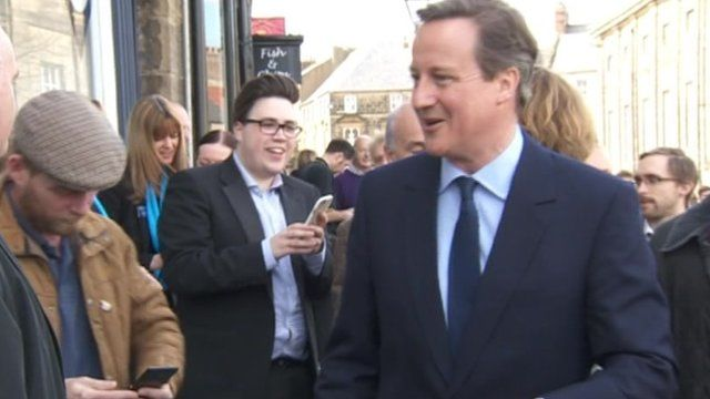 David Cameron in Alnwick