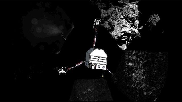Representation of the Philae lander