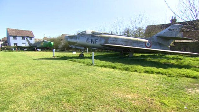 F-100 Super Sabre and the Dassault Mystere at Lashenden Air Warfare Museum