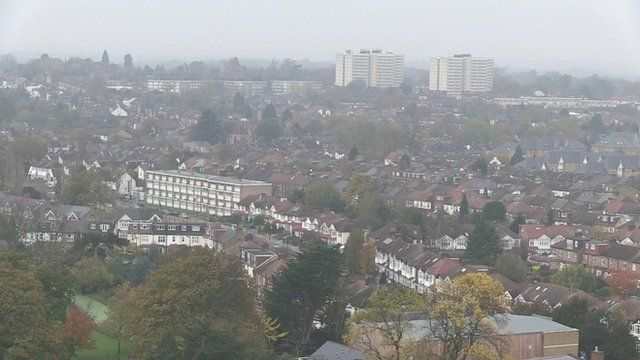 Aerial view of Enfield