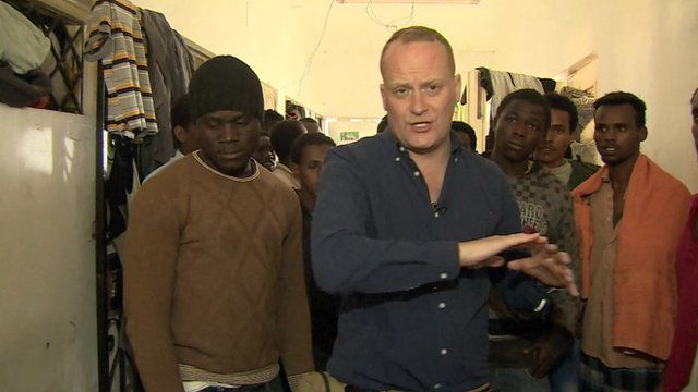 Quentin Somerville reports from inside a migrant detention centre in Libya