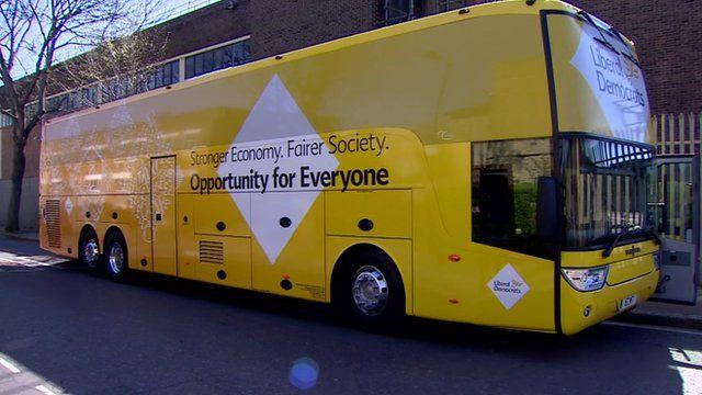 Lib Dems tour bus