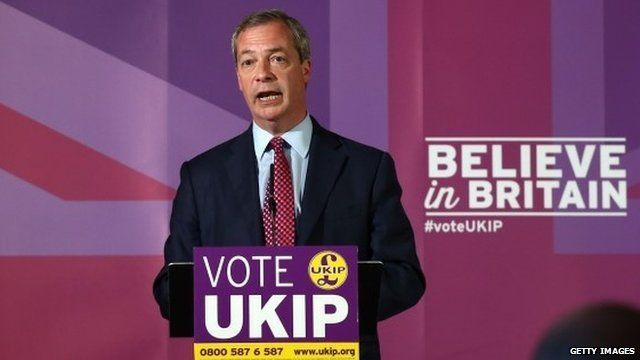 Nigel Farage speaks during the launch of his party's election manifesto