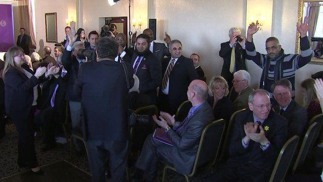 Uproar during UKIP press conference