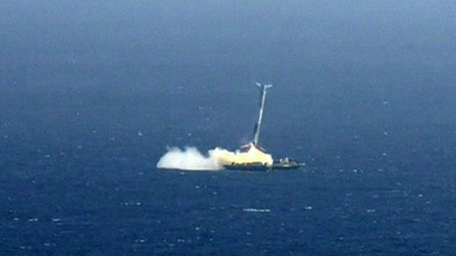 the spacex crashed after an attempted landing failed