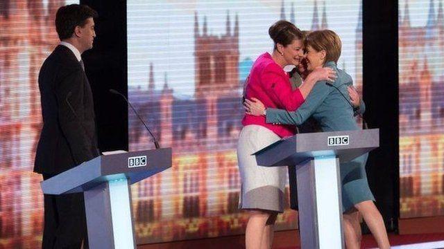 Hugging after debate