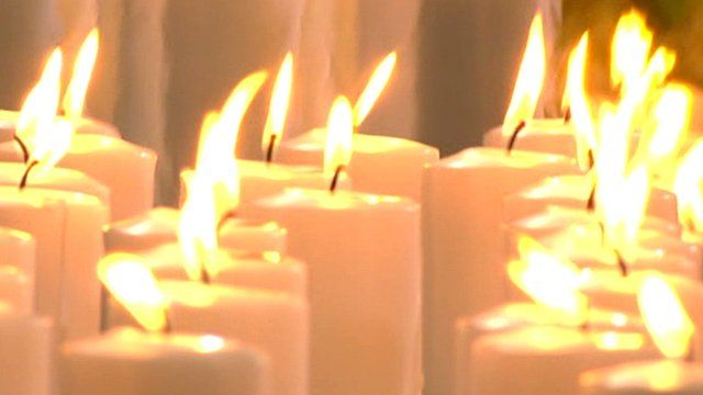 Candles in Cologne Cathedral