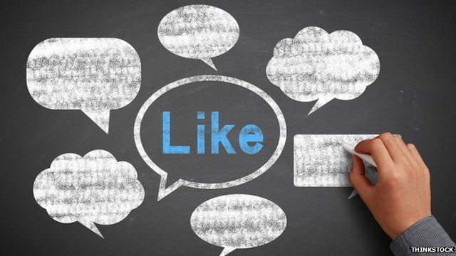 An image of speech bubbles with the word 'Like' in the middle