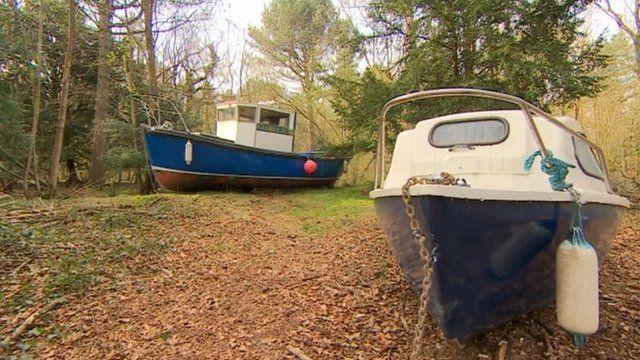 Luke Jerram's fishing boats art project