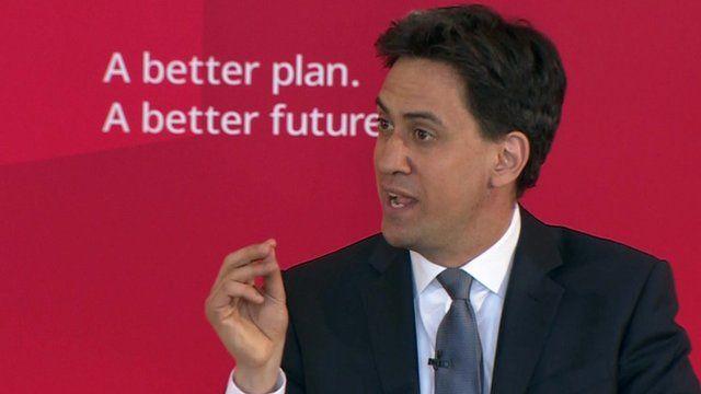 Ed Miliband gives speech