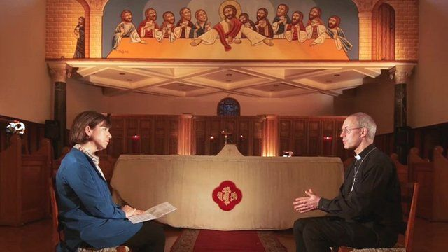 The BBC's Lyse Doucet and the Archbishop of Canterbury, Justin Welby