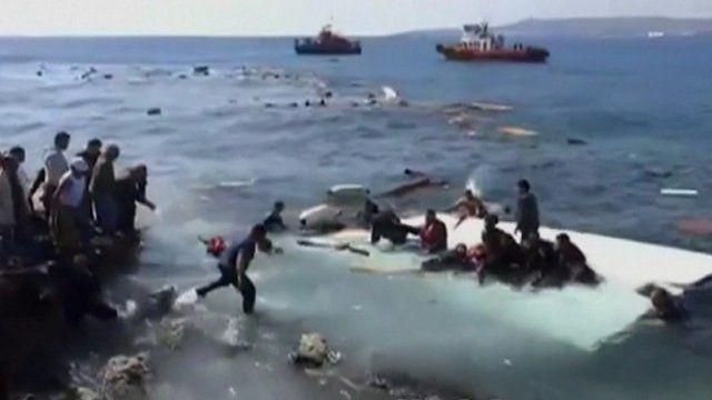 Migrants adrift off Rhodes