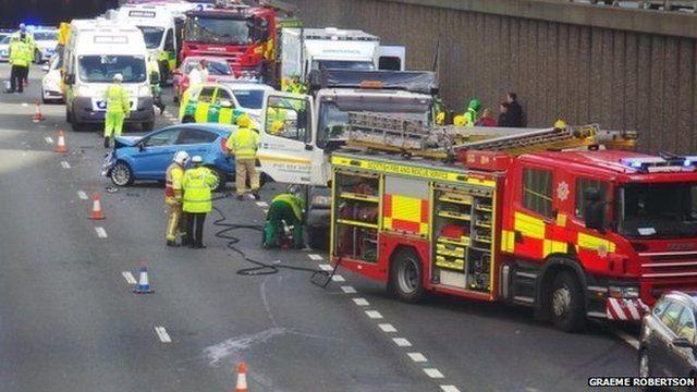 M8 crash scene