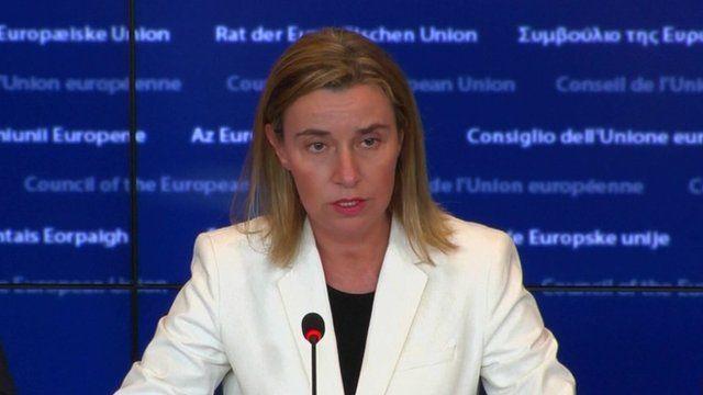 EU's foreign policy chief, Federica Mogherini