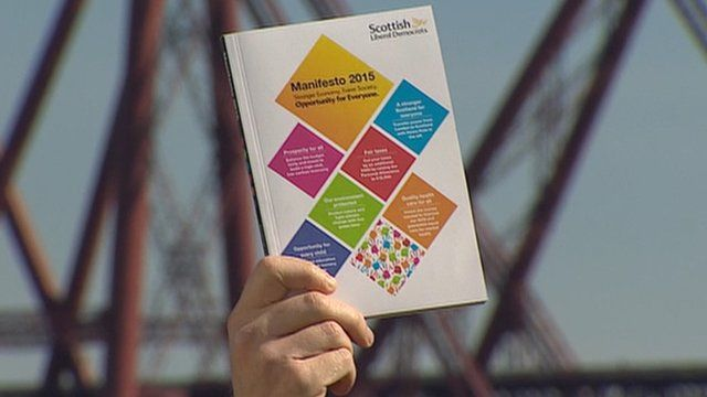 Scottish Liberal Democrats launch their general election manifesto