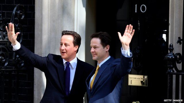 Cameron and Clegg in 2010