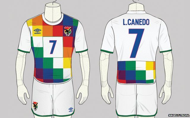 Bolivia Football Kit Design By Angelo Trofa Abuse Bbc News
