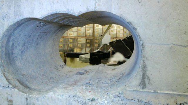 Hole drilled by Hatton Garden burglars