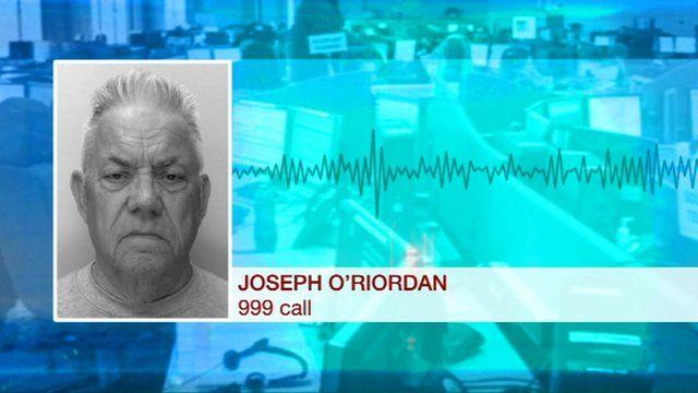 Graphic showing Joseph O'Riordan