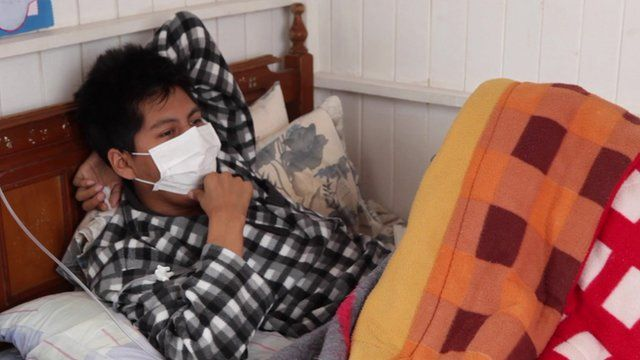 MDR-TB patient in bed